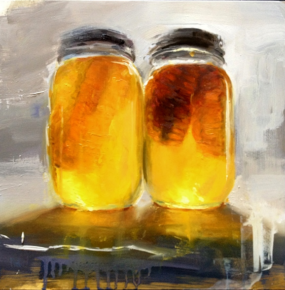 Two Honey Jars